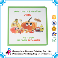 Hardcover cheap custom children board book publishers in china