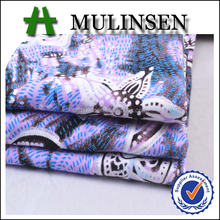 Hot Sale Mulinsen Textile Knit Jersey Reactive Printing 95% Rayon 5% Spandex Checkered Viscose Fabric with Lycra for Garment