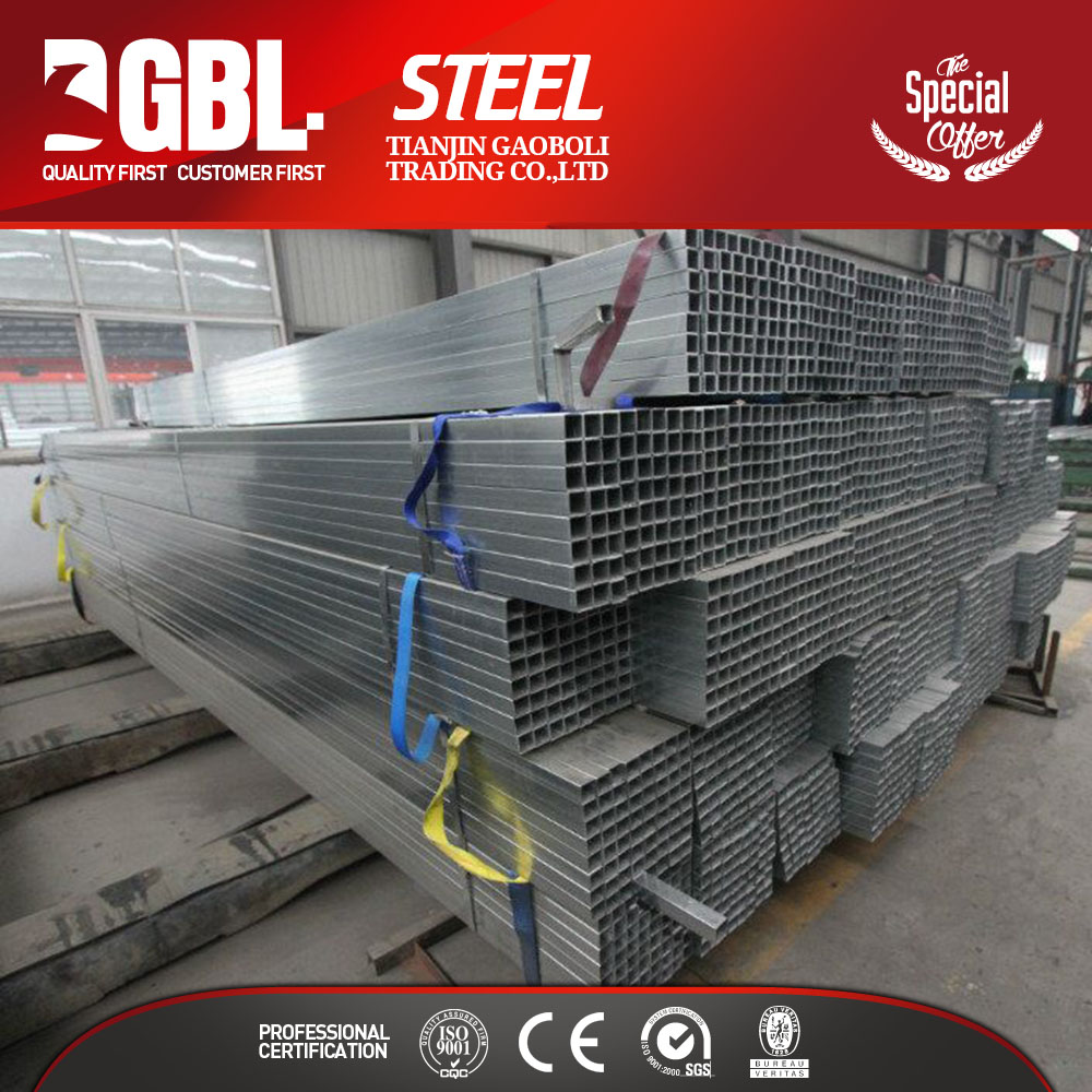 china supplier hollow thin wall galvanized square steel tubing strength