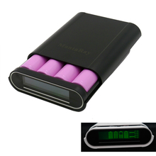 Power Bank 18650 Battery Charger 5V LCD Screen T4 DIY Power Bank Capacity Box Case for Cell Phone/18650 Li-ion Battery
