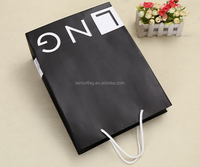Printed paper tote bag with cotton handle for packing gift