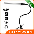 flexible natural light LED reading USB clip desk lamp