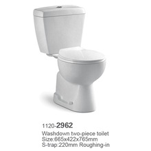 new cheap china ceramic washdown two piece girl wc waterless toilet pots