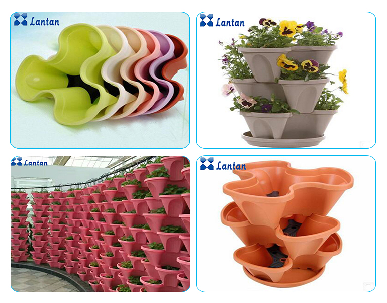 Wholesale New Type PP materials hydroponic vertival plastic plant pot with best price