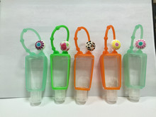 Cute hand sanitizer silicone holder with charms