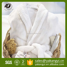 Factory Direct Sale High Quality White Cotton Bathrobe For Home /Hotel