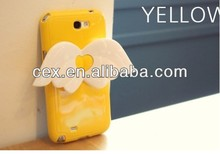 Wholesale - Angel Wings TPU Case Cover With Housing Stand 3D Wing Stand Cases for iPhone 4 4S
