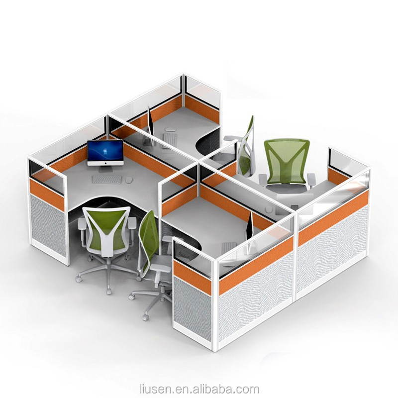Cheap Price Factory Direct Modular Office Furniture 4 Seater