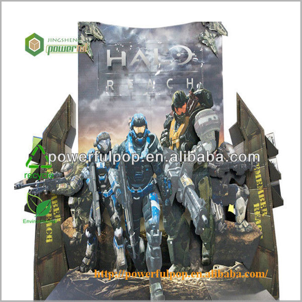 cool photo custom design printed corrguated cardboard poster display standee
