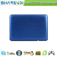SHAREVDI fanless Intel Atom baytrail quad core Z3735 win8/win10 X86 mini pc K600 for Education