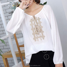 2017 New Fashion Sexy Female Nice Embroidered Blouse