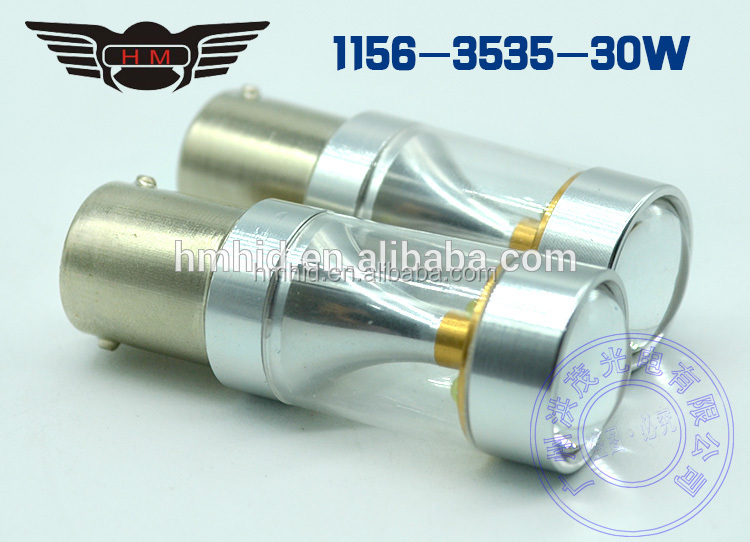 Light Weight Turn Light Transparent Tube 1156/BA15S 3535 Chip 30W LED