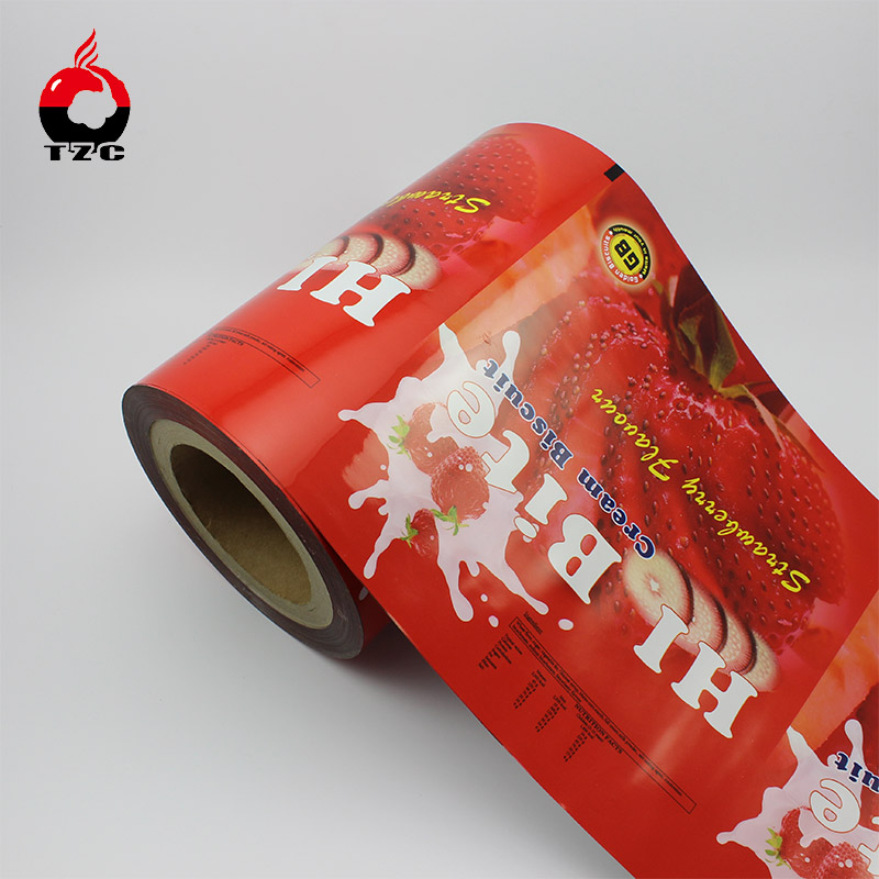 Printed OPP/VMCPP Food Packing Roll Film for Custard Pie