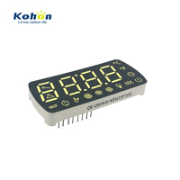 Customized FND white color 4 digit 0.60inch common anode LED seven segment display module