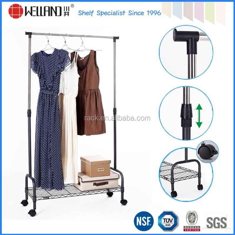 12f Multi functional Steel Pipe Clothes Hanger TrolleyNsf