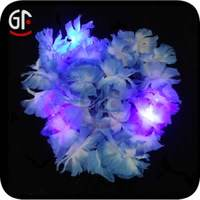 LED Flashing Holiday Party Artificial Leaves Garland