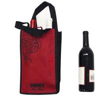 Factory supply reusable fashion 4 bottle 600D polyester red wine bag