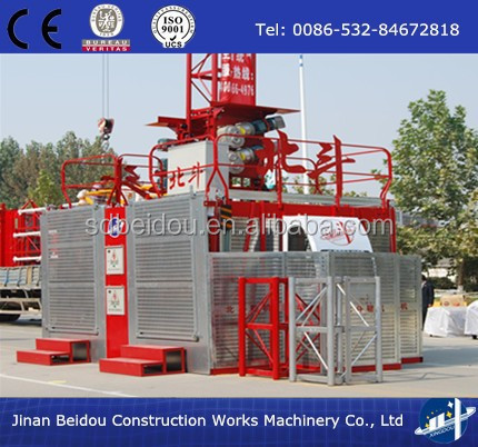 building hoist and lift used for man and material