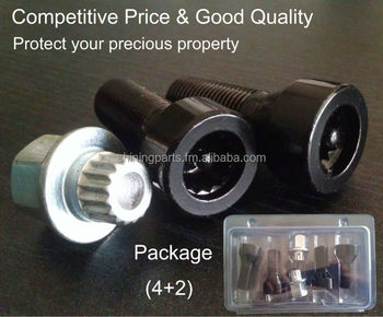 Locking Wheel Bolt for BMW E65,E70,F01,F02,F07,F10,F12,F13,F25,F30,M7X,X70 & Cooper 2007+