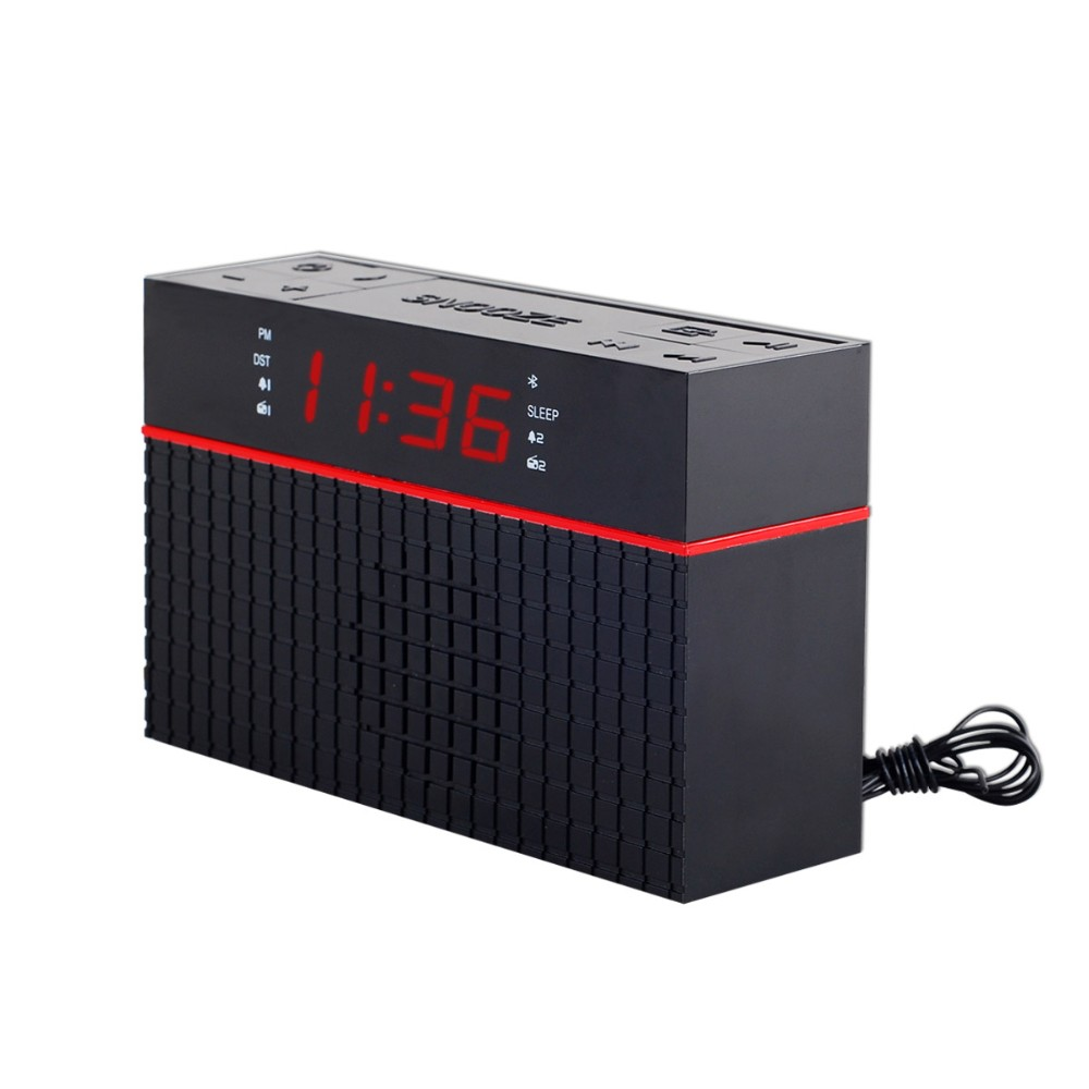 Portable AM/FM Radio with Digital Clock ,Line Input and Bluetooth