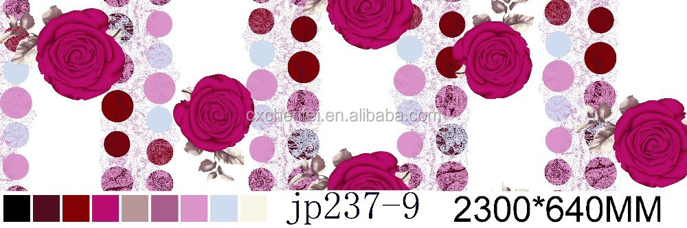 100% polyester fabric with dark purple rose disperse from changxing