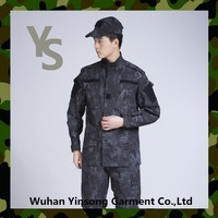 [Wuhan YinSong] Wear-resisting Black python camo ACU military uniform
