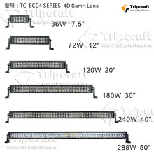 2017 New high power ip67 36w 72w 120w 180w 240W 300W led Work Light bar with 4D LED DRIVING LIGHT BAR