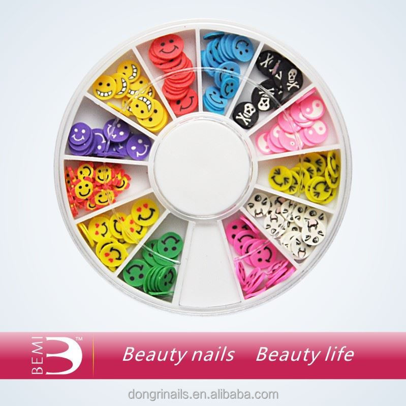 2015 high quality 3d plastic nail art for nail decoration
