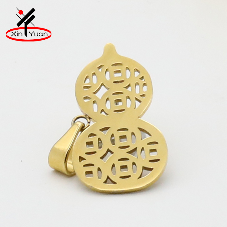 Hot selling fashion jewelry stainless steel mini gourd shape pendant with best quality