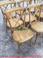 Top Quality Stackable Bentwood Chair , Cross X Back Chair for Sale