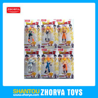 Famous cartoon movie dragon ball Z action figure toy new item 5 inch cartoon figure toys plastic figure model toy for kids