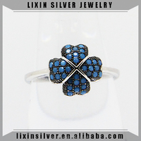 LIXIN 925 sterling silver fashion jewelry blue turquoise ring (JY613-15)