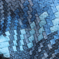 Film surface weaving pattern leather and leather scraps with velvet