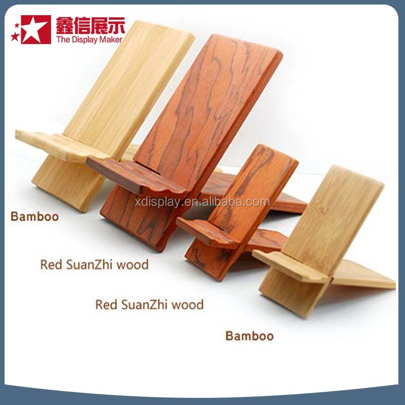 Bamboo mobile phone shop design / ipad stand /stand base mobile phone