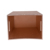 Custom logo elegant faux leather wooden waste bin for home/hotel/office supplies
