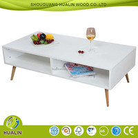 New Fashion Boreal Europe style Solid Wood Legs Coffee Table Design