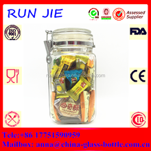 High quality glass candy jarglass jar ring seal/glass jar food