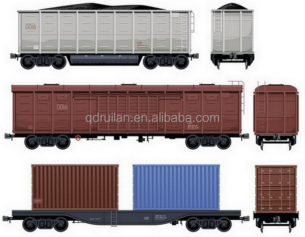 UIC and AAR Certified Open Car, Railway car, trailer, freight wagon