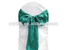 Pintuck taffeta wedding chair sash