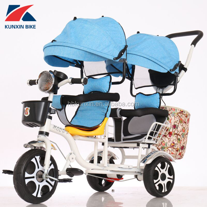 factory wholesale baby twins tricycle / children tricycle two seat / baby double trike for sale with cheap price