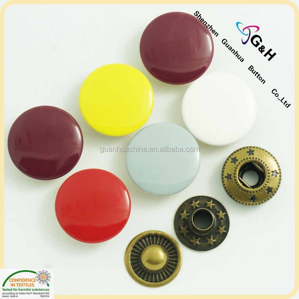 4 Parts Metal Buttons For Garments