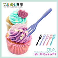 SGS Certified 10cm disposable plastic dessert cake and fruit fork