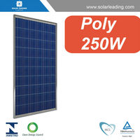Photovoltaic pv solar panel / solar module 250W for 10KW / 15KW / 20KW / 30KW / 50KW / 100KW/ 500KW solar grid system