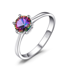 JewelryPalace Mystic Fire Rainbow Topazs Ring Pure 925 Sterling Silver Jewelry Nice Gift for Women