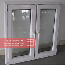 Teeyeo alibaba golden pvc vinyl frame tilt and turn trim and handle window