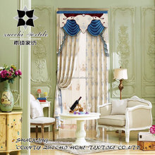 New curtain design 2016 !100% polyester luxury jacquard fabric valance macrame drapery curtain