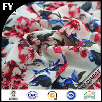 Factory direct digital flower design printed chiffon fabric