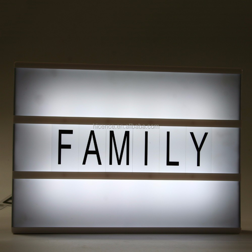 A4 size double side sign home decoration LED cinema light box