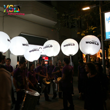 Portable advertising backpack balloon / led lighting inflatable walking balloons for event used