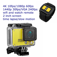 "Slow motion 12MP 2"" screen 4k resolution camcorder professional wifi with watch remote"